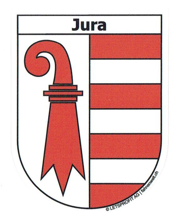 Flagge Fahne Schweiz Kanton Jura Hissflagge 120 x 120 cm