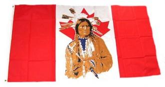 kanada indianer fahnen gedruckt im querformat. Black Bedroom Furniture Sets. Home Design Ideas