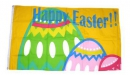 Frohe Ostern / Happy Easter Fahne gedruckt | 90 x 150 cm
