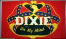 Rebell Dixie on my Mind Fahne gedruckt | 90 x 150 cm