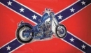 US Rebell Motorcycle Fahne gedruckt | Rebel Motorcycle 90 x 150 cm