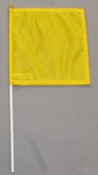 Fahne am Stab gelbe gedruckt klein Pack à 5 Stück
