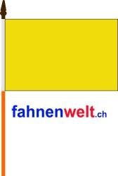 Fahne am Stab Gelb gedruckt