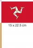 Isle of Man / Flagge am Stab  Pack à 4 Stück | 15.5 x 22.5 cm