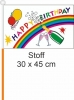 Happy Birthday Fahne / Flagge am Stab | 30 x 45 cm