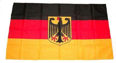fahne deutschland mit adler gedruckt 60x90 cm. Black Bedroom Furniture Sets. Home Design Ideas