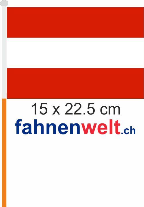 Fahne Am Stab österreich Austria Gedruckt Klein Pack à 4 Stück