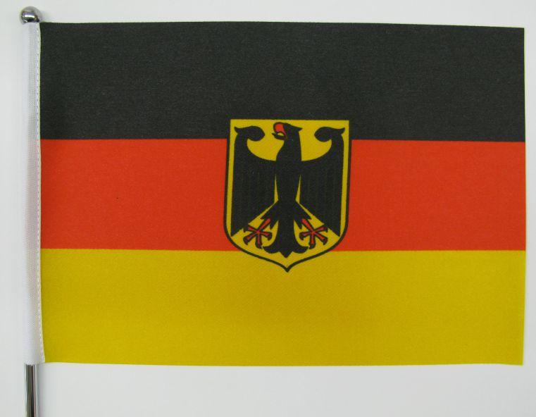 tisch fahne deluxe deutschland mit adler gedruckt. Black Bedroom Furniture Sets. Home Design Ideas
